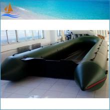 Barco inflável de 8,5 m alumínio piso para resgate