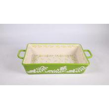 Conjunto de utensilios para hornear de cerámica reactiva de venta caliente