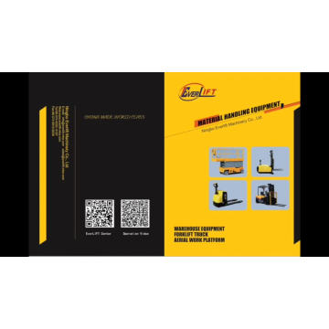 Empilhador da bateria do contrapeso do certificado do CE e do ISO com serviços pós-venda
