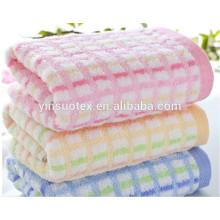 Venta al por mayor toalla de hotel de color sólido conjunto de alta calidad 100% algodón toalla de baño de color sólido