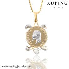 31232 Fashion Simple Multicolor Words Colgante de cadena de joyería de imitación en aleación de cobre