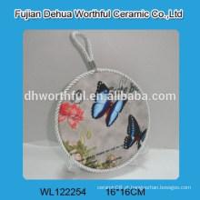 Portas de pote de cerâmica popular em forma de borboleta