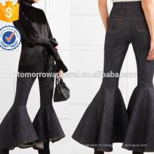 Jean évasé de grande taille Fabrication de vêtements de mode en gros femmes (TA3057P)