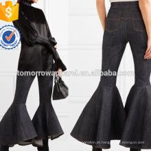 High-rise Flared Jeans Fabricação Atacado Moda Feminina Vestuário (TA3057P)