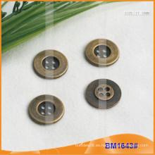 Botón de aleación de zinc y botón de metal y botón de costura de metal BM1643