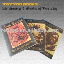 Livro popular do estêncil do tatuagem