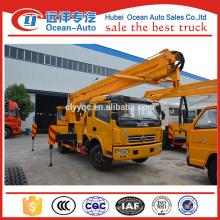 Usine de vente directe Dongfeng camion 16 ~ 18m de haut travail avec un taxi et demi