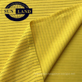 car machinery factory worker wear uniform suit clothing polyester conductive wire carbon knit anti static pique mesh fabric