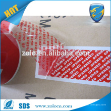 "Die cutting Custom tamper proof void blue tape,wholesale factory high quality once remove it will leave ""void"" text tape"