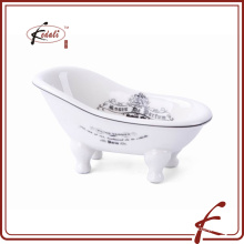 ceramic mini bathtub soap dish