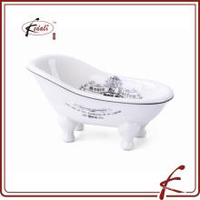 Cerâmica banheira mini saboneteira