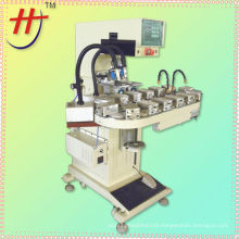 Hengjin printing machinery,HP-160BZ pneumatic 2 colors pad printer with conveyor