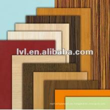 Precio competitivo dobles lados madera grano melamina mdf 4mm