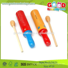 Juguetes baratos color Guiro Tone bloque, instrumento de música de madera