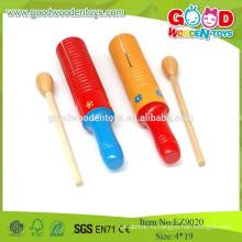 Дешевый игрушечный цветной блок изгибов Гуиро, деревянный музыкальный инструмент