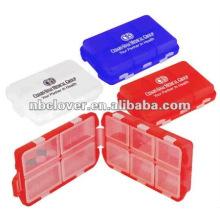 Caixa de plástico para pílulas para promoção