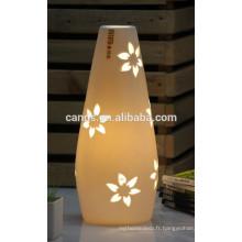 Produits pour la maison procelain lampes de table fleur