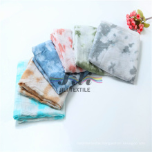 2016 Fashion Tie Dye 100% Viscose S Hijab Scarf with Customied Color