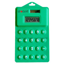 8 Digits 14.5cm Dual Power Silicon Foldable Soft Calculator with Hanging Hole (LC514)
