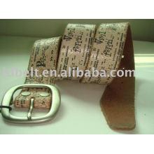 100% couro de couro couro cinto com impressão