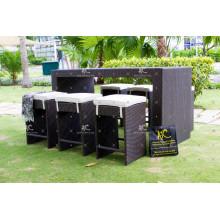 New Design Wicker PE Rattan Bar Stool Sets Outdoor Furniture