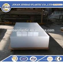 Vente chaude acrylique matériel clair / transparent feuille de verre en plastique