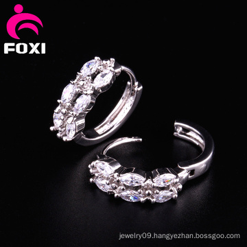 Shining Gemstone Ring Type Earring Design