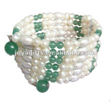 Magnetic Aventurine Beaded wrap Bracelets & Necklace 36""