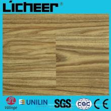 Wpc impermeabilizan el suelo de compuesto del suelo de la textura Precio 5.5 milímetro Wpc que cuelga el piso de madera de alta densidad Wpc de 9inx48in