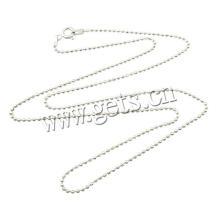 2016 Gets.com collar de cadena de bola de 1,5 mm de plata esterlina