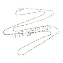 2016 Gets.com 1.5mm sterling silver ball chain necklace