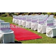 100% poliéster cadeira cobre, visto capas de cadeira, tampas da cadeira do casamento, fitas de cetim