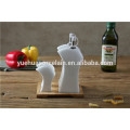 Kitchen Ceramic Spice Jar and Pepper Shakers with Bamboo base