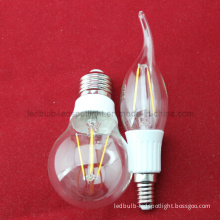 2W 4W 5W Warm White LED Incandescent Replacement Filament Light Bulb