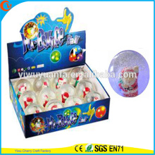 Design de novidades Christmas'gift LED Rubber 75mm Santa Flashing Bouncy Ball