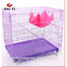 Wholesale price metal cat cage with tray for breeding cat