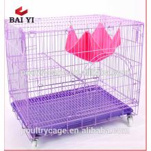 Preço por atacado gaiola de gato de metal com bandeja para reprodução de gato
