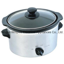 4-qt (3,5 litres) manuelle mijoteuse, acier inoxydable