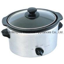4-qt (3,5 litros) fogão lento Manual, aço inoxidável
