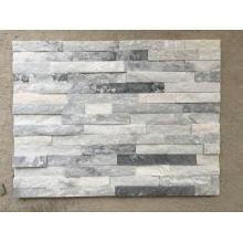 Ice gray quartz stacked stones