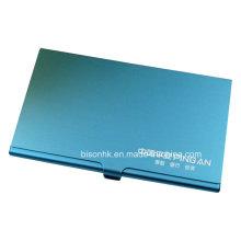 Novo design alumínio titular do cartão de visita