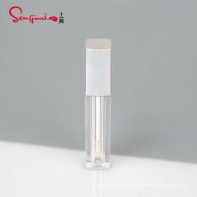 2.8ml custom high quality empty transparent square sliver cap big wand lip gloss containers tube
