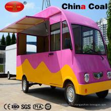 Nouveau chariot de nourriture mobile de conception de casse-croûte