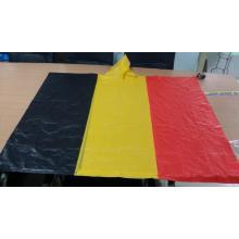 Belgium flag pvc rain poncho