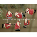 Polyresin Christmas Santa Hanging Decoration Gifts