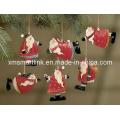 Polyresin Christmas Santa Pendurado Decoração Presentes