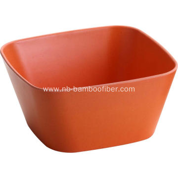 Eco-friendly Bamboo Geometric Square Bowl