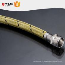 B17 en acier inoxydable tressé à haute pression en métal flexible