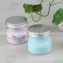 China fornecimento de plástico transparente frasco creme com tampa de metal (PPC-17)