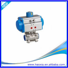 HAOXIA 3 PCS Pneumatic Actuator Ball Valve With High Quality